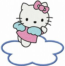 "5-8.5"" HELLO KITTY ANGEL CLOUD WALL SAFE STICKER BORDER CUT OUT CHARACTER"