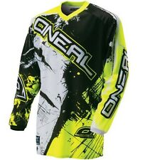 Oneal Element Long Sleeve Sleeved DH Downhill MTB Bike Jersey Black Yellow Small