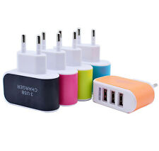 Portable 3.1A USB 3 Port Triple Wall Charger Home Travel AC Charger Adapter EU
