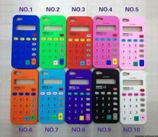 For Apple iPhone 5S / 5 Calculator Style Design Silicone Soft Flexible Skin Case