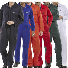 Click Boilersuit Coverall Overalls Mens Workwear Stud Front / Pockets Mechanics