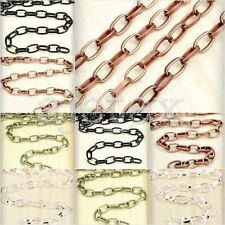 6.56/13.12 feet 2/4m Rollo Chains Unfinished Chain Necklace Pendant 2 Sizes