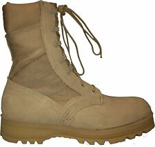 Wellco US Army Genuine Issue Military Tan Desert Hot Weather Combat Boot NSN