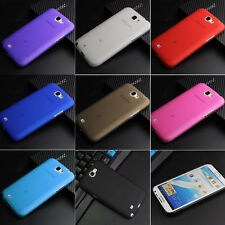 For Samsung Galaxy Note Note2 N7000 N7100 TPU Matte Gel skin case cover