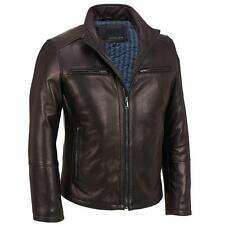 Wilsons Leather Mens Stand Up Collar Leather Scuba Jacket