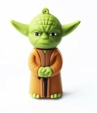 Green Cartoon Yoda Model USB 2.0 Enough Memory Stick Flash pen Drive 4GB-32GB