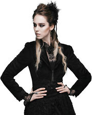 Devil Fashion Gothic Riding Jacket Black Velvet Lace Tail Steampunk Victorian