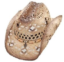 NEW! WESTERN STRAW HAT - RAFFIA with BAND (S/M L/XL)