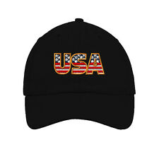 Usa American Flag Embroidered Soft Unstructured Hat Baseball Cap