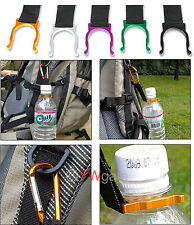 10pcs/Lot  Carabiner Belt Clip Key Chain with Water Bottle Hook Clamp Holder