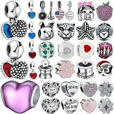Fashion Cute Bead Design 925 Sterling Silver Charms For Bracelets Women Jewelry