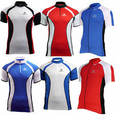 Mens Cycling Top Bike Shirts short sleeve breathable cycle jersey Medium 38-40