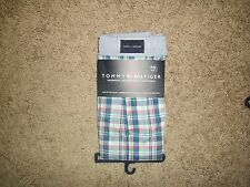 Tommy Hilfiger Woven Boxer Underwear Blue Red White Plaid NWT