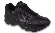 ASICS GEL 190 TR LEATHER BLACK MENS 4E CROSS TRAINING SHOES **FREE POST AUST