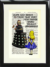 Alice in Wonderland Davros Antique Dictionary Page Art Print Doctor Who Poster