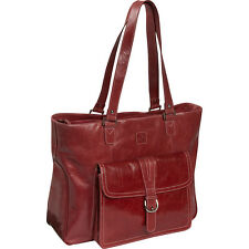 Clark & Mayfield Stafford Vintage Leather Laptop Tote Women's Business Bag NEW