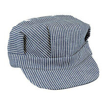 Hickory Stripe Engineer Cap 100% Cotton Train Engineer's Cap Rothco 5448