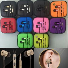 Metal in ear headphone earphones Remote Mic for Android Mobile Phone MP3 4 #KL