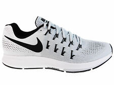 NEW MENS NIKE AIR ZOOM PEGASUS 33 RUNNING SHOES TRAINERS PURE PLATINUM / BLACK