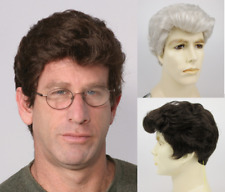 MENS MALE SHORT HAIR STRAIGHT WAVY BRUSHED BACK STEVE WIG 1860 COSTUME