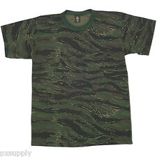 t-shirt tiger stripe camo made in the usa fox outdoor 64-13 various sizes