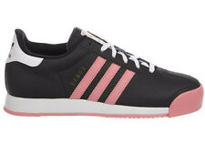 NEW WOMENS ADIDAS ORIGINALS SAMOA CASUAL SHOES LEATHER TRAINERS BLACK / SUN GLOW