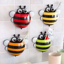 Home Bathroom Creative Cute Bee Powerful Suction Toothbrush Holder Toothpaste