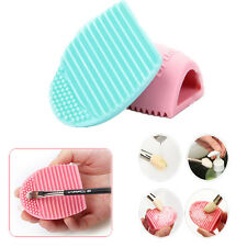 Women Egg Cleaning Glove MakeUp Washing Brush Scrubber Board Cosmetic Clean Tool