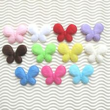"US SELLER - (50-110pc) x (1 3/8"") x Padded Furry Felt Butterfly Appliques ST339"
