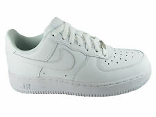 NEW MENS NIKE AIR FORCE 1 LOW BASKETBALL SHOES TRAINERS WHITE / WHITE