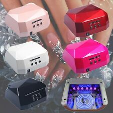 36W 100-240V Nail Art LED UV Gel Cure Curing Nail Lamp Timer Polish Dryer W3LE