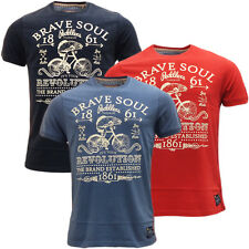 Mens Brave Soul T Shirt Goliath Designer Logo Fashion Front t-shirts S M L XL