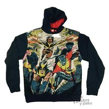X-Men Classic Marvel Comics Heroes Sublimated Fleece Adult Hoodie Vest S-XXL