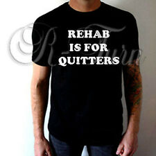 REHAB IS FOR QUITTERS FUNNY WEED RUDE SEX OFFENSIVE HUMOR T shirt