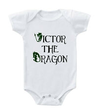 CUSTOM NAME The Dragon Infant Toddler Baby Cotton Bodysuit One Piece