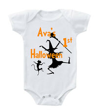 First Halloween Dancing Witch Custom Infant Toddler Baby Bodysuit One Piece
