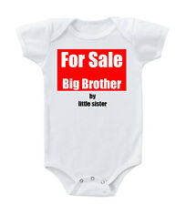 For Sale Big Brother By Little Sister Cotton Baby Bodysuit One Piece
