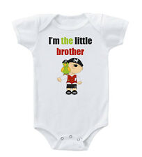 I'M The Little Brother Cotton Baby Bodysuit One Piece