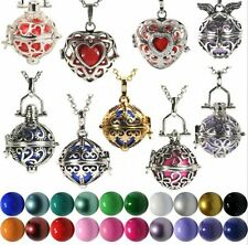 New Harmony Ball Cage Silver Locket Pendant Angel Caller Sounds Chime Necklace