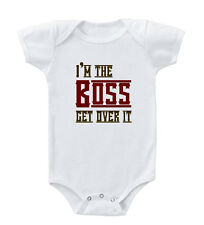 I'M The Boss Get Over It Infant Toddler Baby Cotton Bodysuit One Piece