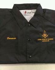 MASON MASONIC JACKET EMBROIDERED W/ LODGE INFO AND YOUR NAME (FREE SHIPPING)