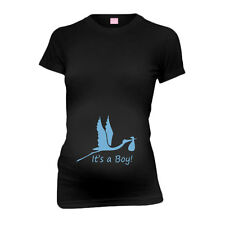 Stork It's A Boy New Mom Funny Maternity T-Shirt Tee Shirt Top Baby Shower Gift