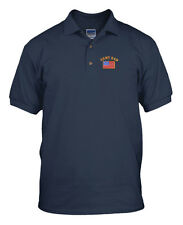 ARMY DAD MILITARY Embroidery Embroidered Golf Polo Shirt