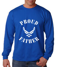 PROUD FATHER AIR FORCE MILITARY Long Sleeve Unisex T-Shirt Tee Top