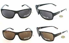 NEW FOSSIL BLACK+TORTOISE BROWN 100% UV PROTECTION WRAP SUNGLASSES+POUCH