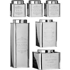 Chai Stainless Steel Tins Tea Coffee Sugar Cake Cookies Pasta Storage Canisters