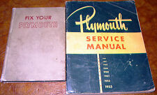 1946 1947 1948 1949 1950 1951 1952 Plymouth Service Manuals All Model P15 to P24