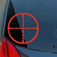 Crosshairs vinyl sticker decal rifle scope sniper hunter shooter military swat