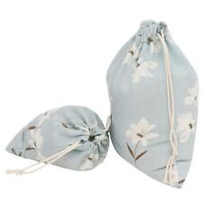 Cotton Linen Drawstring Storage Bag Toy Shoes Laundry Organizer Travel Pouch
