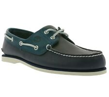 NEW Timberland Classic 2 Eye Boat Men's Sneakers Shoes Moccasins Blue A16LL